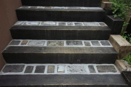古レンガをつかった階段