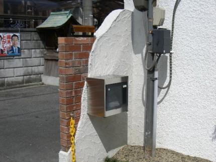 実用性のある門柱