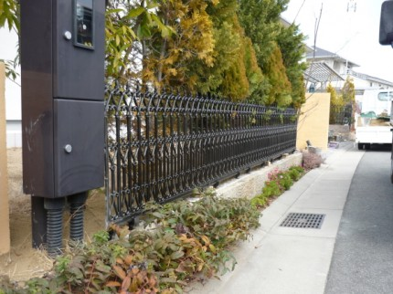 鋳物フェンス
