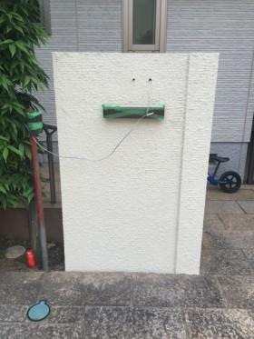門柱塗装完成