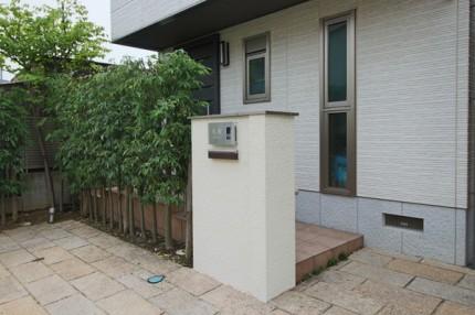 シンプル門柱