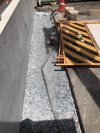 工事中の埋設物