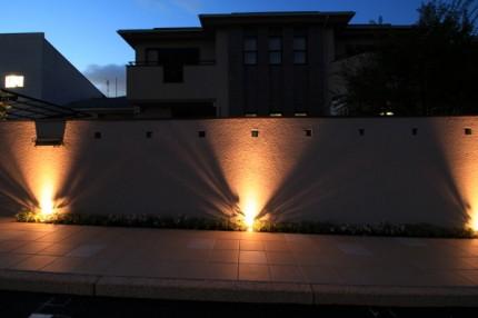 壁面のライティング
