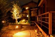 和風の庭のライティング
