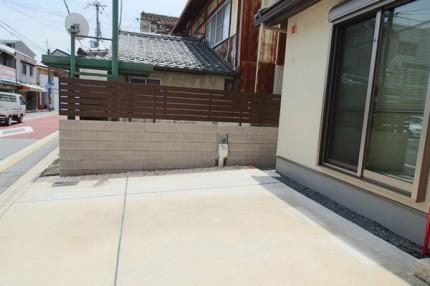 リブブロック+横板貼フェンス