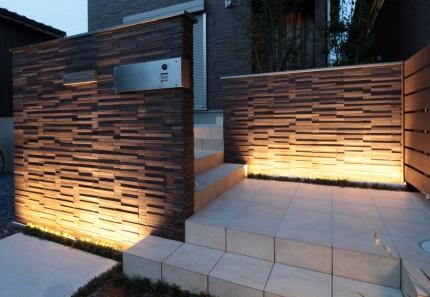 門柱のライティング