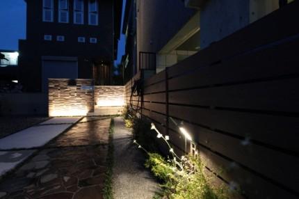 通路や門柱のライティング