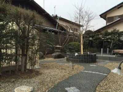 庭のリフォーム京都市西京区