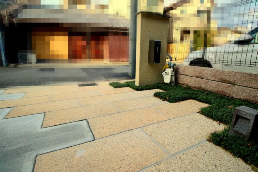 板石の園路