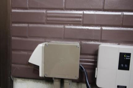 防水コンセント設置