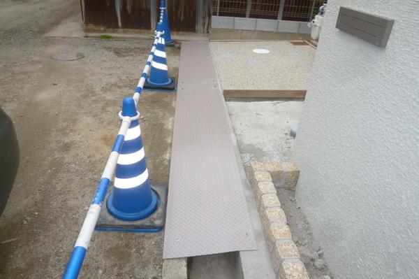 縞鋼板施工完成