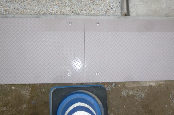 縞鋼板完成