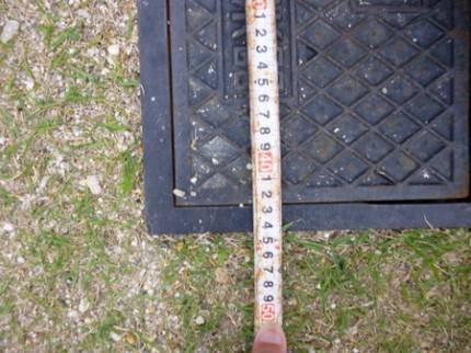 水道メーターの位置確認
